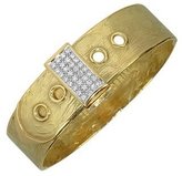 Torrini Zero - 18K Yellow Gold and Diamond Pave Cuff Bracelet