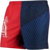 Trunks Unbranded Men's Red/Navy Los Angeles Angels Color Block Swim