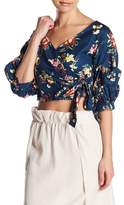 Do & Be Do + Be Floral Woven Wrap Crop Top