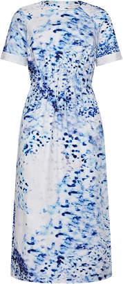Maj Lilli Jahilo Porcelain Column Cotton Dress With Side Pockets