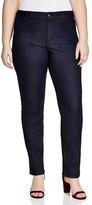 NYDJ Plus Hayley Straight Leg Jeans in Dark Enzyme
