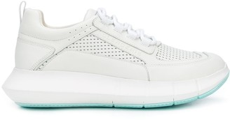 Clergerie Perforated Low Top Sneakers