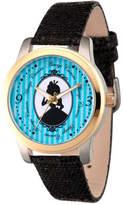 Disney Princess Disney Alice in Wonderland Womens Black Leather Strap Watch-Wds000356 Family