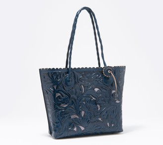 Patricia Nash Leather Estella Tote with Scallop Trim