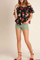 Umgee USA Poppy Floral Top