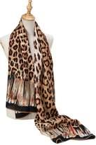 kolumb Premium Women Extreme Soft Scarf Wrap Shawl For Any Season ( Leopard Pattern, Grey )