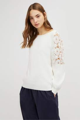 French Connection Ortic Reversible V Neck Lace Jumper
