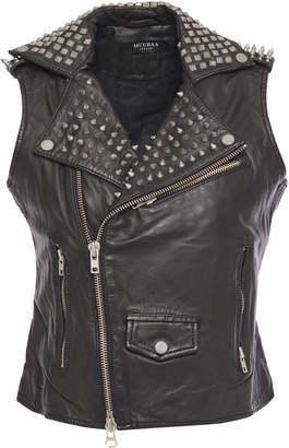 Muu Baa Muubaa Voisin Studded Leather Biker Vest
