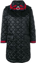 Gucci quilted hooded coat