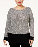 INC International Concepts Plus Size Colorblocked Sweater, Only at Macy's