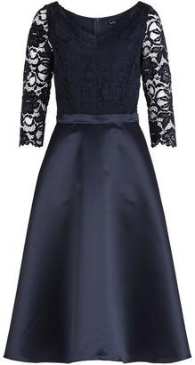 Vera Mont Lace and satin midi dress