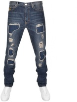 Vivienne Westwood Distressed Tapered Jeans Blue