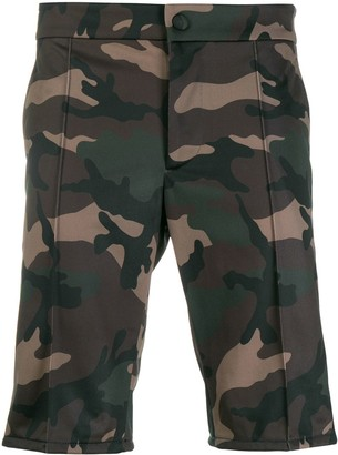 Valentino Camouflage Tailored Bermuda Shorts