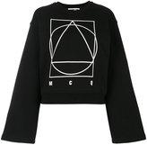 McQ by Alexander McQueen logo print sweatshirt - women - Cotton/Spandex/Elastane - XS
