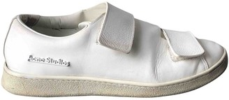 Acne Studios White Leather Trainers