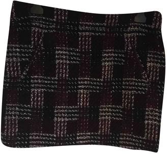 Celine Burgundy Tweed Skirt for Women Vintage