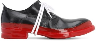 Mattia Capezzani Leather Lace-Up Shoes W/ Rubberized Sole