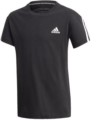 adidas Boys 3-Stripes T-shirt - Black