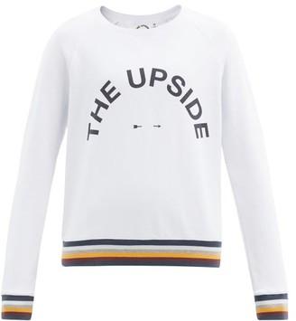 The Upside Bondi Logo-print Cotton-jersey Sweatshirt - White Multi
