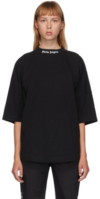 Palm Angels Black Classic Logo Over T-Shirt