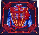 One Kings Lane Vintage Hermès Brandebourg Blue Scarf