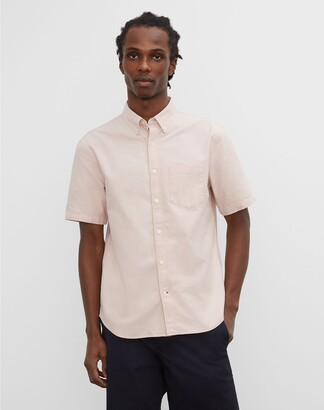 Club Monaco Short Sleeve Summer Oxford
