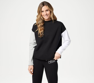 Peace Love World Color-Block French Terry Pull-Over