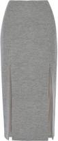 Wes Gordon Split wool-blend midi skirt