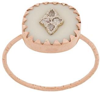 Pascale Monvoisin 9kt rose gold PIERROT WHITE ring