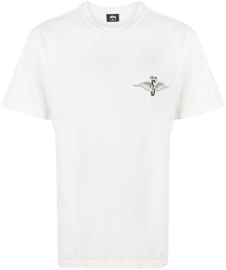 Stussy wings-print crew-neck T-Shirt