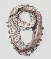 LOFT Tasseled Leopard Print Infinity Scarf