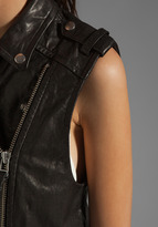 Mackage Frederica Distressed Leather Vest