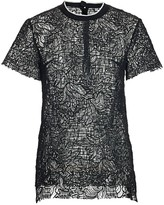 Proenza Schouler Sheer Floral Lace Top