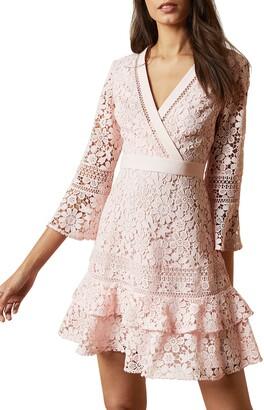 Ted Baker Nello Multi Lace Tiered Mini Dress