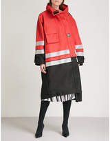 Balenciaga Pulled drill parka coat