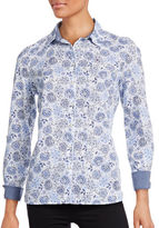 Tommy Hilfiger Floral Paisley Roll-Sleeve Shirt
