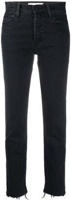 Mother Straight-Leg Cropped Jeans