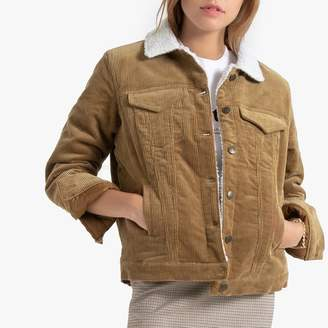 Vero Moda Corduroy Jacket with Sherpa Collar and Pockets