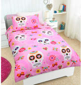 Candy Skulls Glow in the Dark Quilt Cover Set