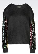 Emporio Armani Runway Sweater With Sequins