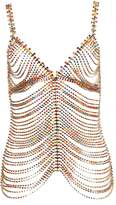Area multicolored embellished chain top