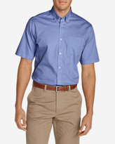 Eddie Bauer Men's Wrinkle-Free Classic Pinpoint Oxford Short-Sleeve Shirt - Solid