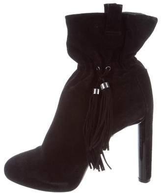 Celine Suede Platform Ankle Boots