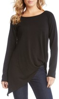 Karen Kane Women's Pick Up Hem Sweater Knit Tunic Top