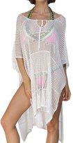 Papaya Wear Women's Fishnet Crochet Hollow-out Pullover Bikini Cover-up Beach Shawl White1