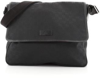 Gucci Flap Messenger Bag GG Canvas Large