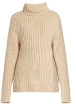 Tibi Roll-neck ribbed-knit wool sweater