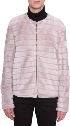 Drome Fur Coat With Suede Details