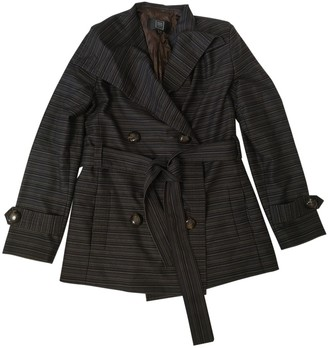 Herve Leger Brown Wool Trench Coat for Women