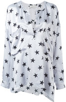 Faith Connexion star raw hem tunic - women - Silk - XS